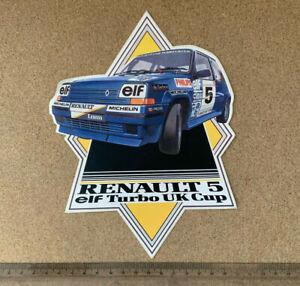 Renault 5 elf Turbo UK Cup Motorsport  Rally Racing Original Sticker Decal