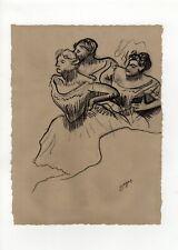 Edgar Degas - Charcoal Drawing