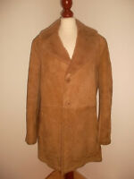 true vintage 70`s Lammfellmantel Hippie boho sheep skin coat Fell Mantel M