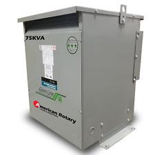75 kVA 240D/480D Volt Primary to 480D/240D Volt Secondary 3 Phase Transformer