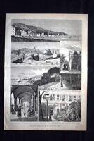 Vedute di Rapallo, sulla Riviera di Levante Incisione del 1882