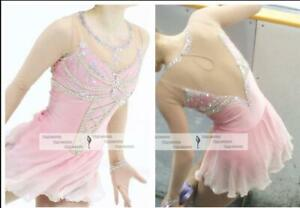 New Pink  Ice Figure Skating Dress,Figure Skating Dress For Competition