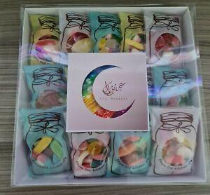 EID MUBARAK 15 X MINI SWEET BAGS BOX GIFT HALAL SWEETS
