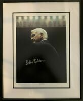 Signed Framed Sir Bobby Robson Newcastle Autograph Photo + Proof England Ipswich