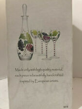 Hand-Painted Collection Wine Set Vintage