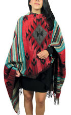#5000 Amazing Weave Shawl Wrap Soft Alpaca Throw Scarf Reversible Artisan Peru