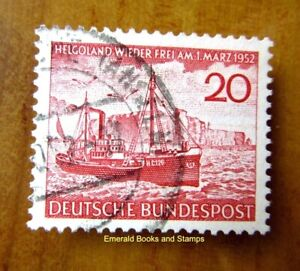 EBS Germany 1952 - Heligoland German Again - Fisheries - Michel 152 Used (f)
