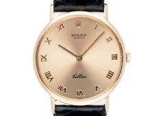 Rolex Cellini Classic 18kt Gelbgold Handaufzug Armband Leder 32mm Ref.4112