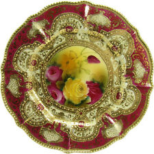 Nippon Hand-Painted Porcelain Plate with Gold Enameling