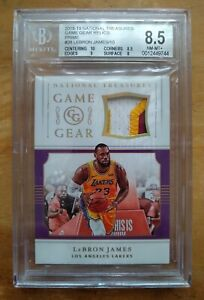 2018-19 National Treasures LeBron James Gold Patch 10/10 BGS 8.5