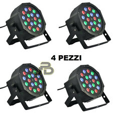 FARO RGB X4 18 LED 18 WATT STROBO PAR LED ALTA LUMINOSITA DMX WASH PROGRAMMABILE