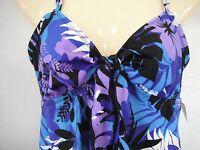 24th & Ocean Size M Medium Multi Color Tankini New Womens Swimwear Top