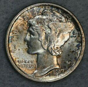 1917-D 10C Mercury Silver Dime Album Set Break High Grade Collection AU BU FB
