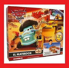 DISNEY PIXAR CARS TOON EL MATERDOR PLAY SET WITH CHUY BRAND NEW READY TO SHIP