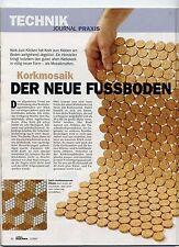 Boden Belag Fliesen 30 x 30cm Kork Mosaik 100% massiv Kork Bad Dusche Outdoor