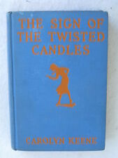 Carolyn Keene SIGN OF THE TWISTED CANDLES Nancy Drew G & D Glossy Tandy Frontis
