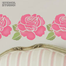 Rose Flower Wall Stencil, Home Decor DIY Reusable Decorating The Stencil Studio