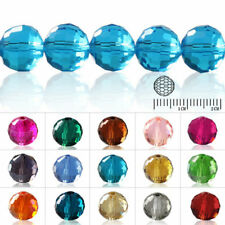 72//100pcs Helix Crystal Round Beads Twisted DIY Jewelry Makings Lots 4//6//8//10mm