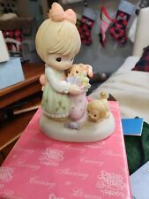 """Precious Moments Porcelain Figurine by Hallmark Exclusive """"May your holiday."""""""