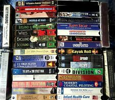 VHS TAPES LOT - 35 Cassettes ALL DOCUMENTARIES WWII Celtic Civil War Weather etc