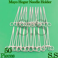 "50 Mayo Hegar Needle Holder 8"" Surgical Instruments"