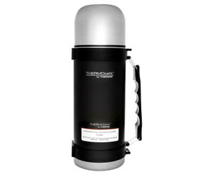 New THERMOS ThermoCafe Stainless Steel Vacuum Insulated Flask 1.0 Litre Black