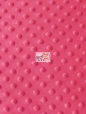 "Dimple Dot Minky Fabric - Hot Pink - 60"" Sew-Soft Baby Fabric Raised Chenille"