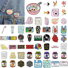 Fashion Enamel Pins Cartoon Animal Fruit Brooches Badge Denim jeans Lapel Pin