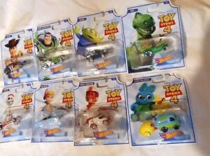 New 2019 Hot Wheels Character Cars Disney Pixar Toy Story 4 Complete 8-Car Set