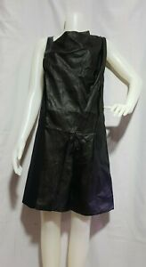BALENCIAGA Leather and Polyester Dress Size 40 on tag