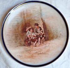 Assiette en porcelaine Haviland fin XIX ème signée
