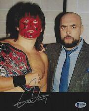 Great Muta Signed 8x10 Photo BAS COA New Japan Pro Wrestling WCW NWA w Gary Hart