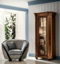 Display Case Glass Cabinet Wardrobe Wall Books Wood Rustic Baroque Rococo New