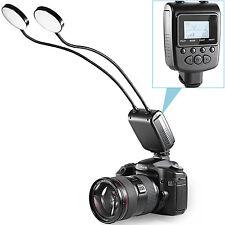 Neewer Two Metal Tube LED Round Light Flash for Canon Nikon DSLR Camera