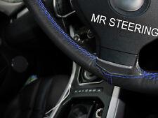 Se adapta a Peugeot 206 98+ Cubierta del Volante Cuero Verdadero Azul Real doble puntada