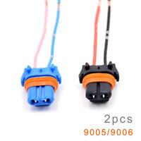 2^Universal 9005 9006 H10 Wiring Harness Socket Car Headlight Fog Light Adapter