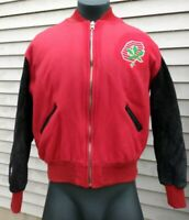 Ohio State Buckeyes OSU Vintage DELONG Wool & Leather Varsity Jacket - Large