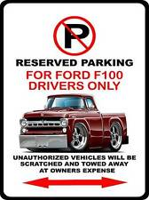 1957 Ford F-100 Pickup Truck Car-toon No Parking Sign NEW