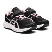 Asics Girls Patriot 12 PS Running Shoes Trainers Sneakers Black Pink Sports
