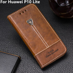 For Huawei P10 Lite Wallet Leather Card Slots Flip Stand Holder Phone Case Cover