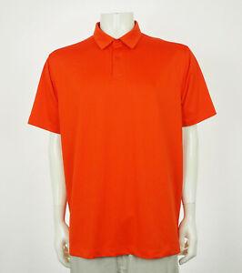 Under Armour UA Orange Loose Tech Blend Golf Polo Shirt Mens XL
