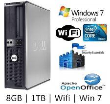 Dell Core 2 Duo 3.0GHz   1TB   8GB   WiFi   Windows 7 Professional Computer PC