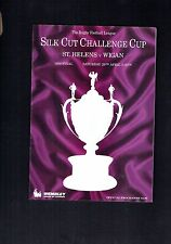 #VV4. 1989 SILK CUP ST HELENS  V  WIGAN  RUGBY  LEAGUE  MAGAZINE