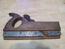 Antique Rabbet Wood Plane Tool in Oak Missing cutting blade Handle for pushing