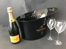 Veuve Clicquot Brut Champagner Flasche 0,75l 12% Vol + Magnum Kühler + 2 Gläser