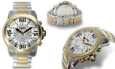 NEW NXS 14090 Men's Geiger Analog Chronograph Date TwoTone SS Bracelet Watch 50m