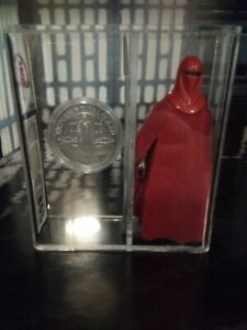 Vintage star wars figures emperor royal guard ukg with rare mail away potf coin.