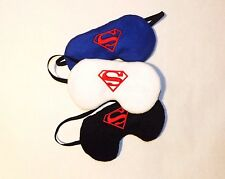 Set of 3 Sleep Masks - Superman w/ Crest - Blue, Black & White  - Comes As Shown