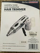 New in box!  Perfect solutions Wet/dry Nose & mustache Hair trimmer $30 retail