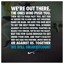 "Nike Classic Motivational Running ""Make It Count"" Print Advertisement"